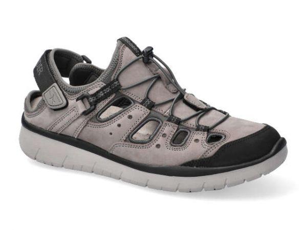 Allrounder Maroon Grau Sandale